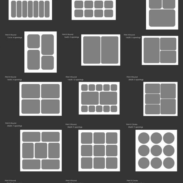 rounded print board for Photoshop