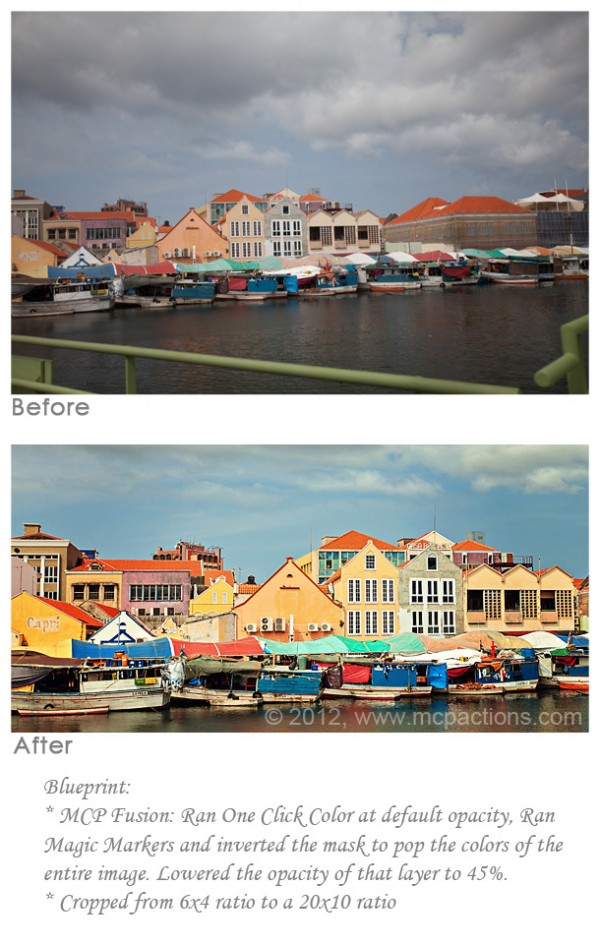 colorful buildings in Curacao