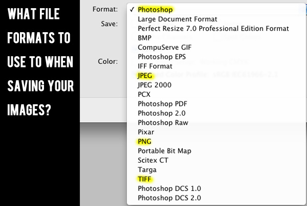 file formats to use The Guide To File Formats: How You Should Save Your Images