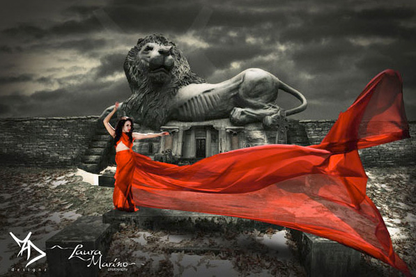 lion Composite Images: Use Photoshop To Blend Multiple Photos