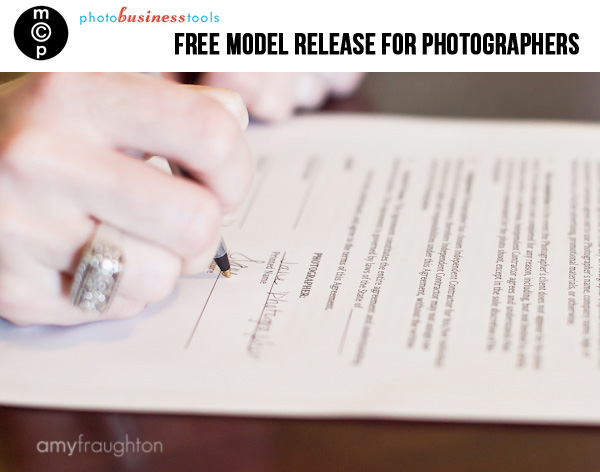 model release Free Model Release Form for Photographers