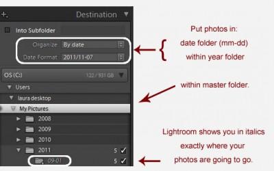 Avoiding a Lightroom Folder Mess — Lightroom Import Basics