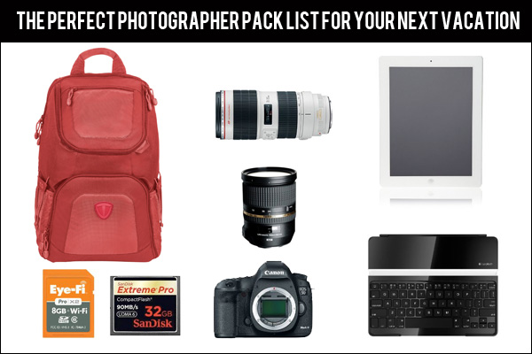 photographer pack list