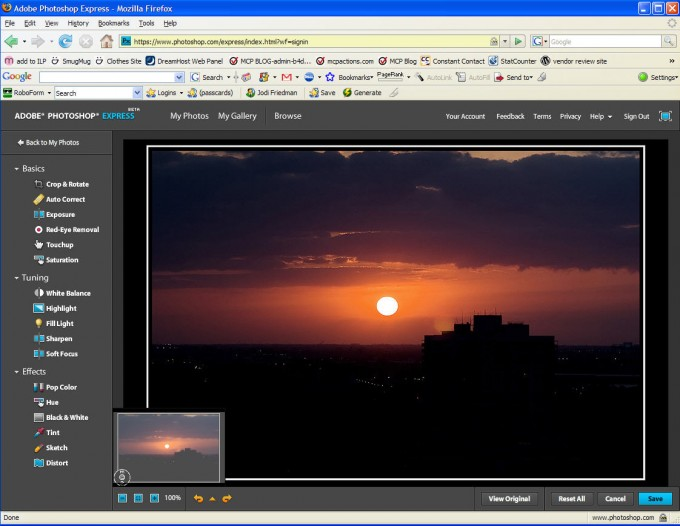 ps express Photoshop Express | My thoughts on this new program