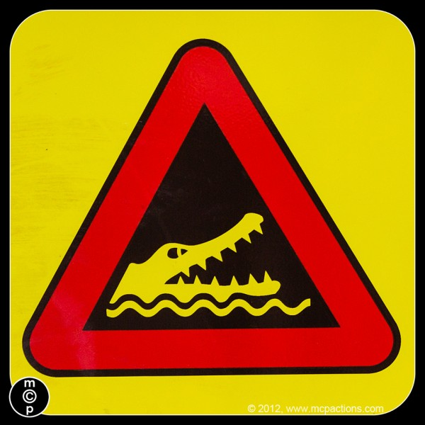 queensland crocodile sign