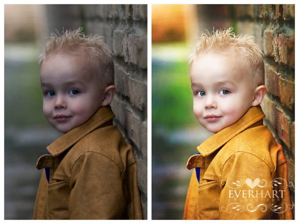 using photoshop actions to fix underexposed image