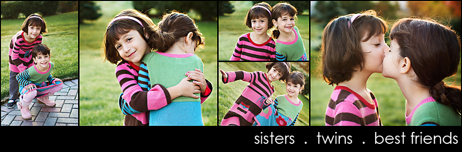 sisters twins best friends web Early morning light...  I just love it!
