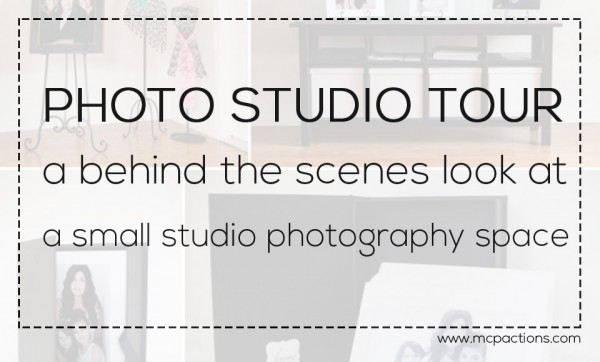 small studio space 600x362 Photo Studio Tour: Behind the Scenes Look at a Small Studio Space