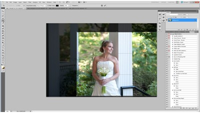 How To Edit A Bridal Image Using Photoshop Actions