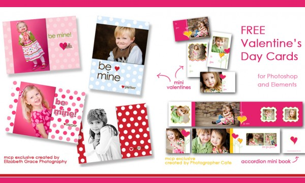 vday rerelease 600x360 FREE Valentines Day Mini Cards and Accordion Book Templates