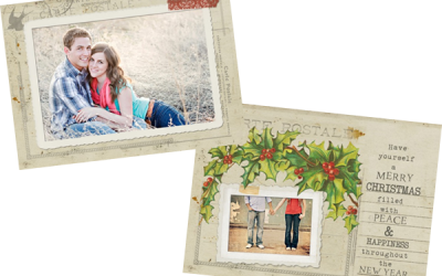 Free Vintage Postcard Holiday Card Template