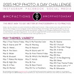 MCP Photo A Day Challenge: May 2015 Themes