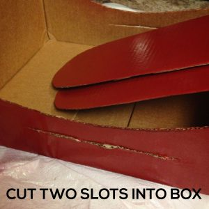 CUT SLOTS IN BOX