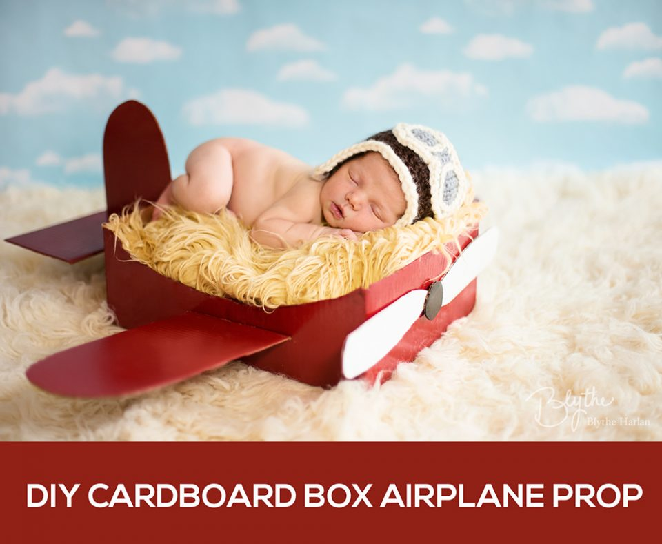 DIY cardboard airplane prop