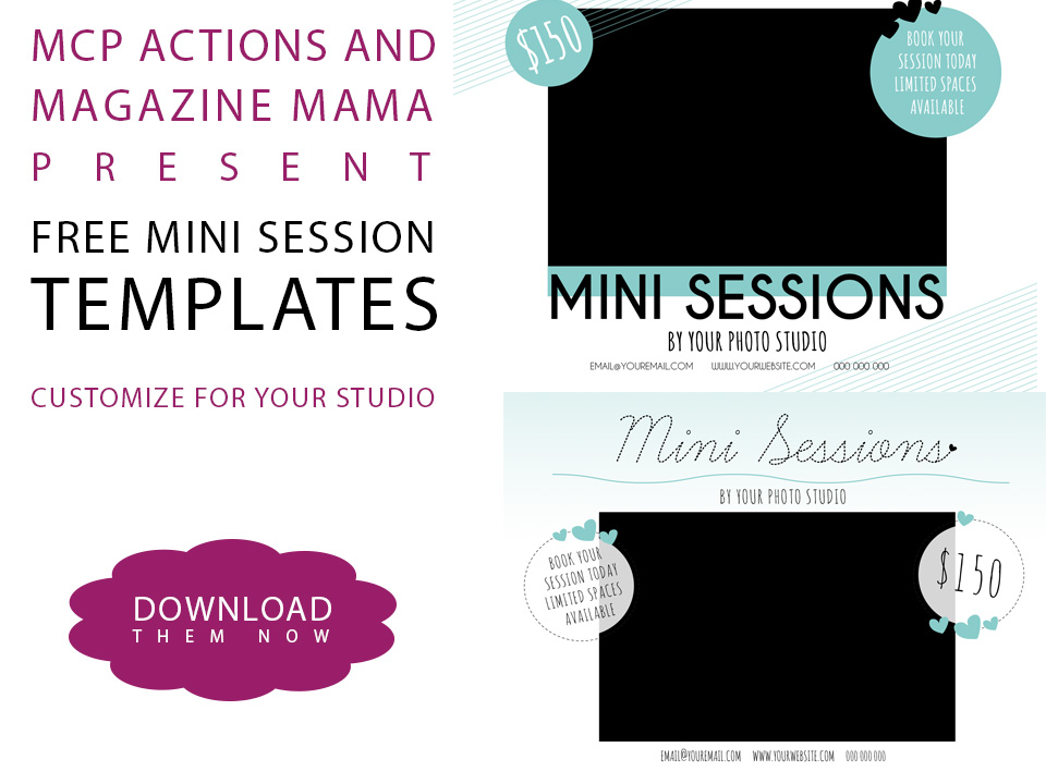 Download A FREE Mini Session Template For Photoshop