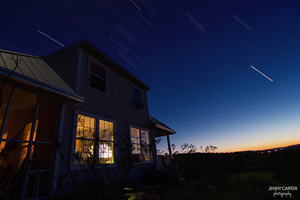 Star Trail with House