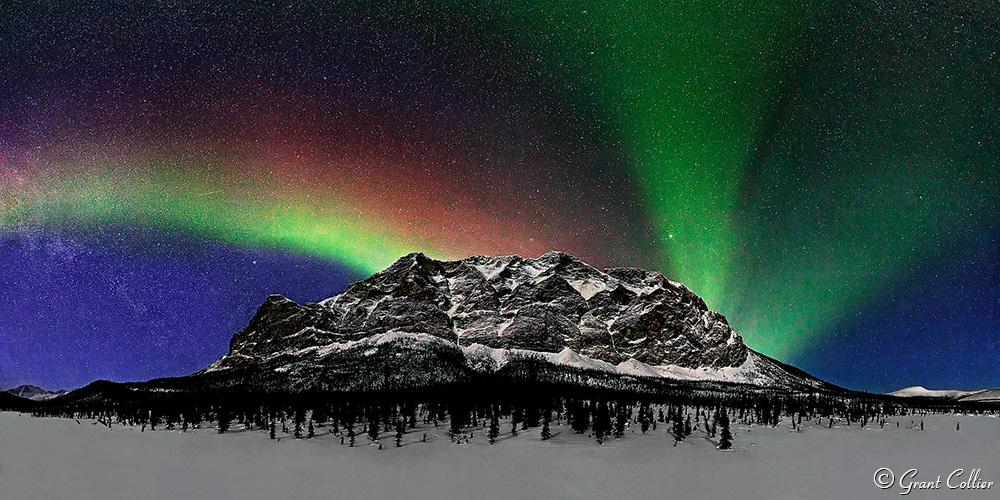northern lights over Supapak Mountain, Alaska