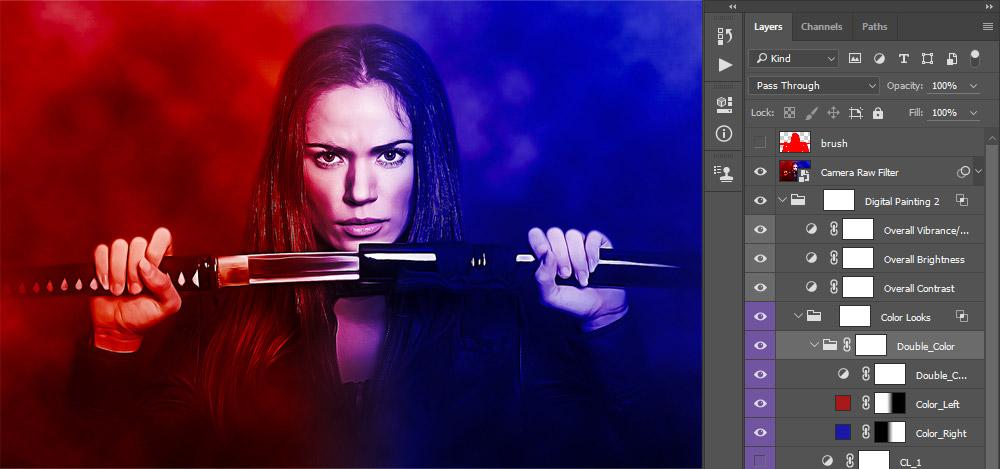 5-double-color-look-panel Digital Artwork 2 Photoshop Action