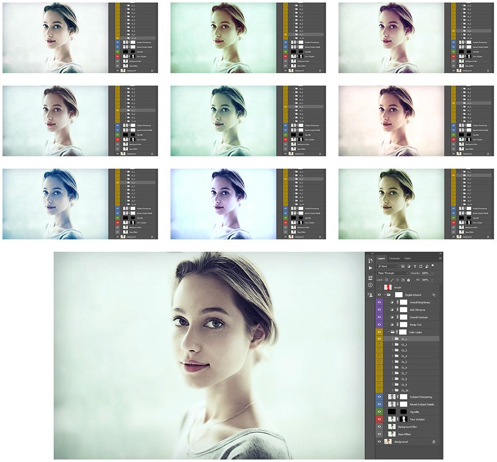 color-looks Digital Artwork Photoshop Action