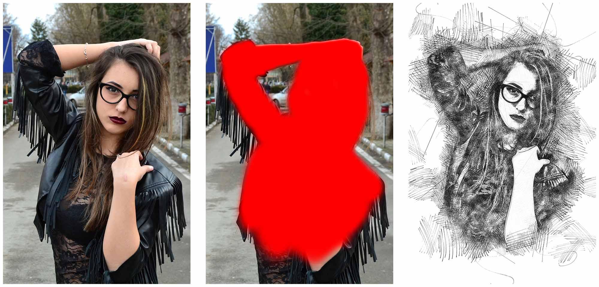 effect-that-action-created Felt-Pen Sketch Photoshop Action