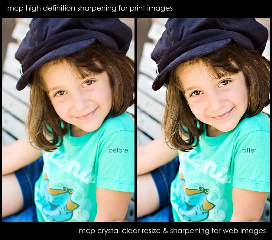 Free Photoshop sharpening action