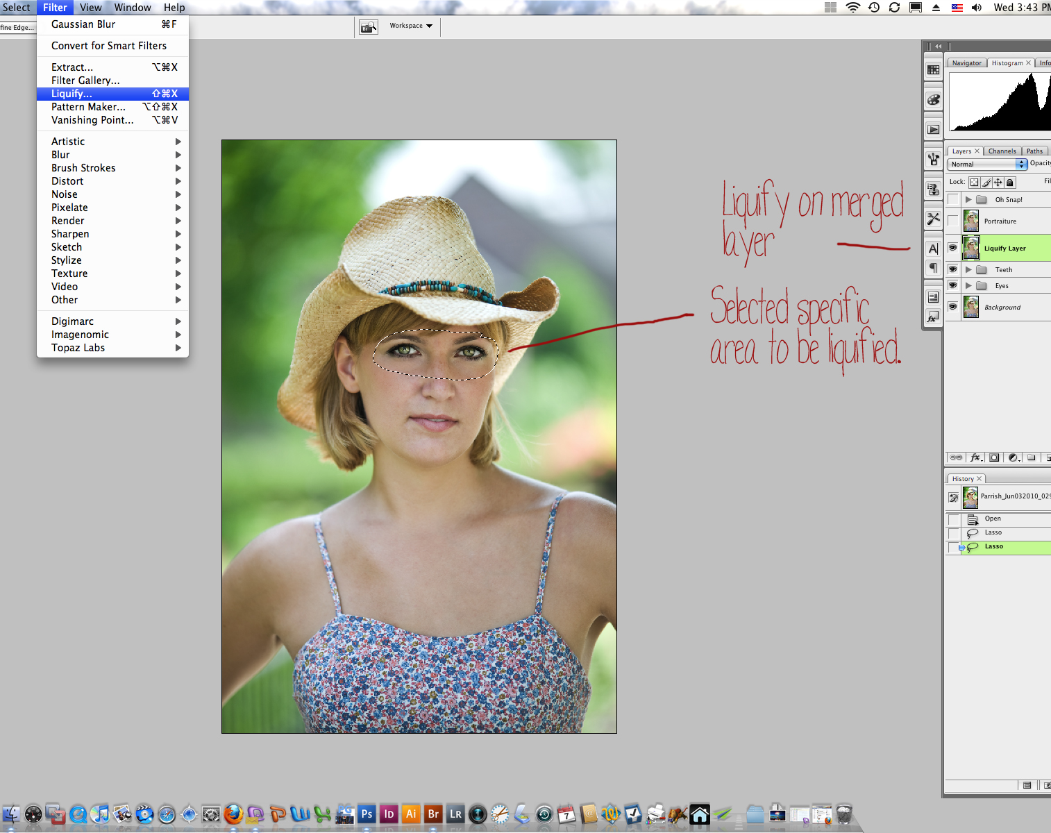 10-Liquify-Prep Digital Workflow Using Photoshop and Adobe Camera Raw and Bridge Guest Bloggers Photoshop Tips & Tutorials