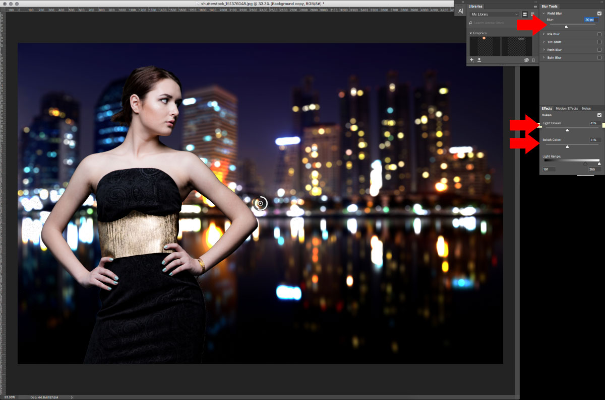 11-Blur-1 How to turn studio shots into on location shots in just a few simple steps Activities Lightroom Presets Lightroom Tutorials Photoshop Tips & Tutorials