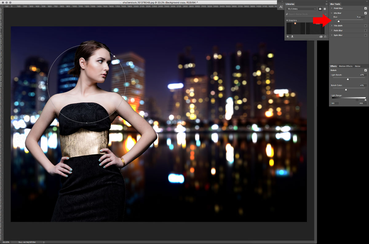 12-Blur-2 How to turn studio shots into on location shots in just a few simple steps Activities Lightroom Presets Lightroom Tutorials Photoshop Tips & Tutorials
