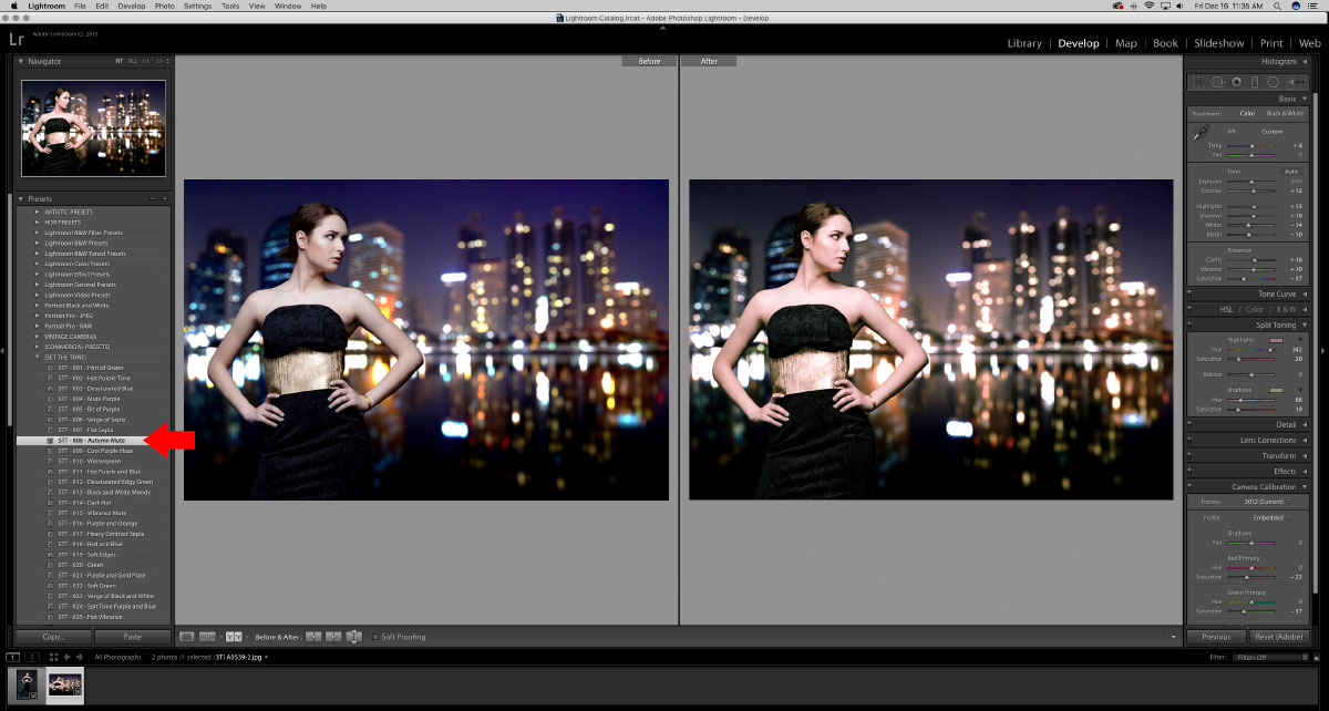 17-Apply-Lightroom-Preset How to turn studio shots into on location shots in just a few simple steps Activities Lightroom Presets Lightroom Tutorials Photoshop Tips & Tutorials