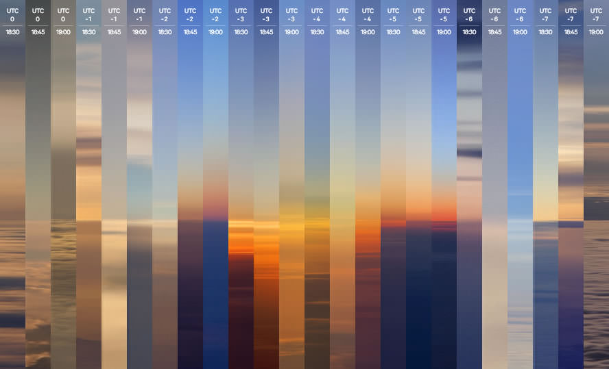 "24-sunsets-in-a-day Simon Roberts ""Chasing Horizons"" to capture 24 sunsets in a day Exposure"