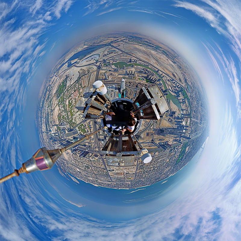 360-degree-panorama-of-dubai Wonderful 360-degree panorama of Dubai from Burj Khalifa's top Exposure