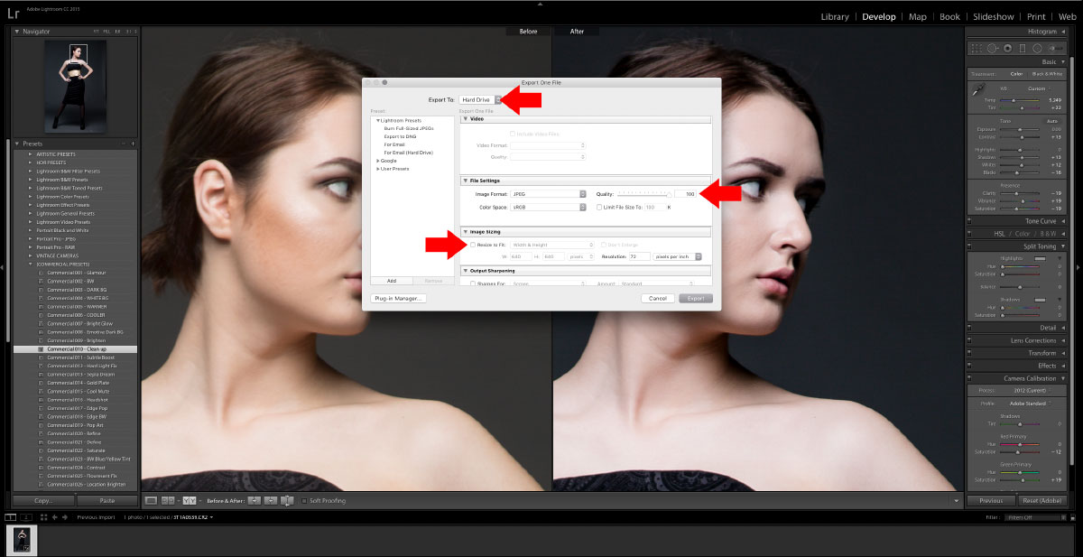4-Export How to turn studio shots into on location shots in just a few simple steps Activities Lightroom Presets Lightroom Tutorials Photoshop Tips & Tutorials