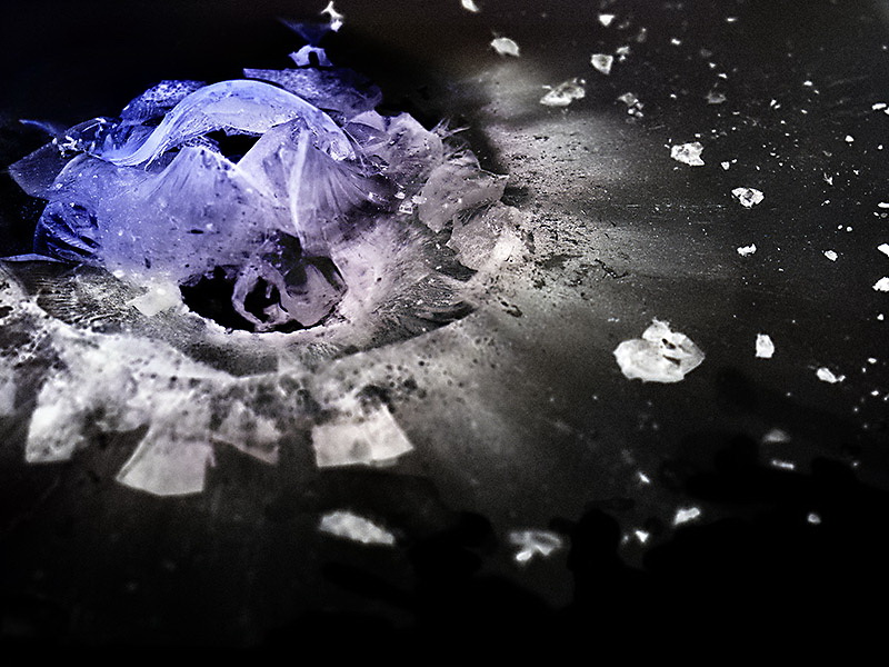 """44-magnum """"The Big Bang"""" shows the beauty of plexiglass stopping bullets Exposure"""