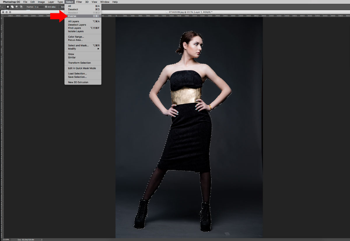 7-Inverse-Selection How to turn studio shots into on location shots in just a few simple steps Activities Lightroom Presets Lightroom Tutorials Photoshop Tips & Tutorials