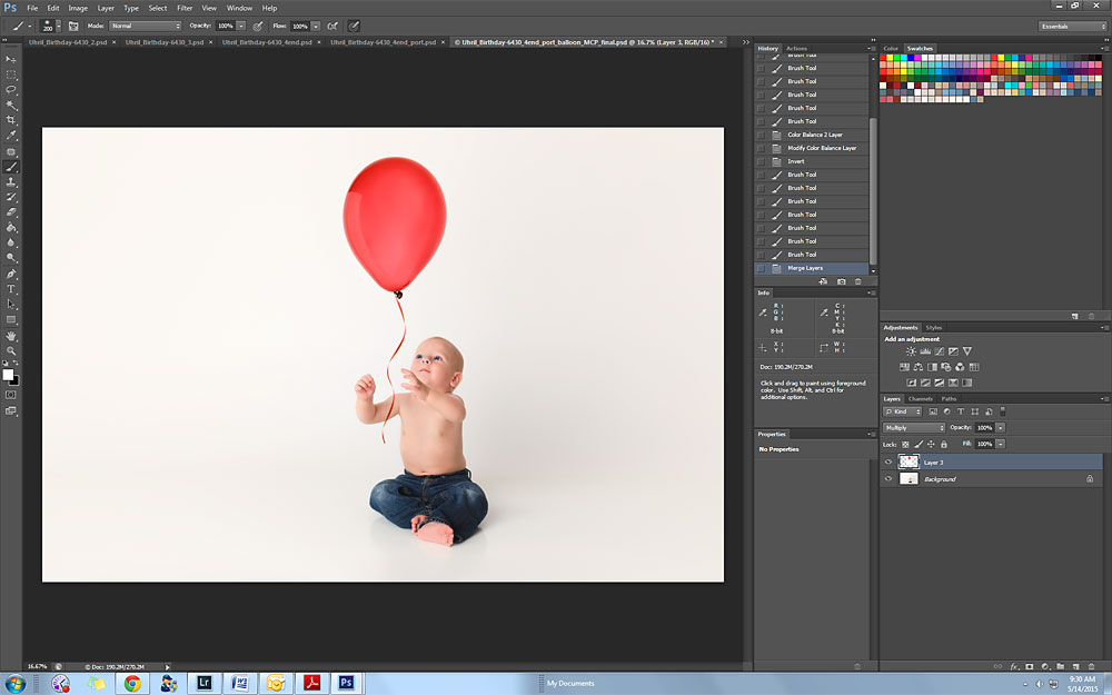 Birthday_Balloon_add_Raleigh_photographer_McClafferty2 How to Extend Space and Add a Photo Prop in Photoshop Blueprints Guest Bloggers Photoshop Actions Uncategorized
