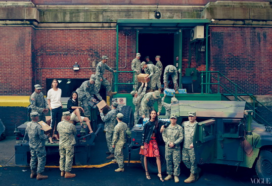 Chain-of-Command Vogue controversial photo shoot celebrates Hurricane Sandy storm troupers News and Reviews