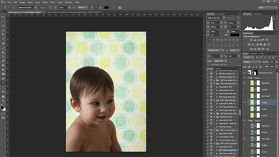 Change-opacity-and-style Easy Ways to Add Pizzazz To Blank Walls in Photoshop Free Actions Free Editing Tools Guest Bloggers