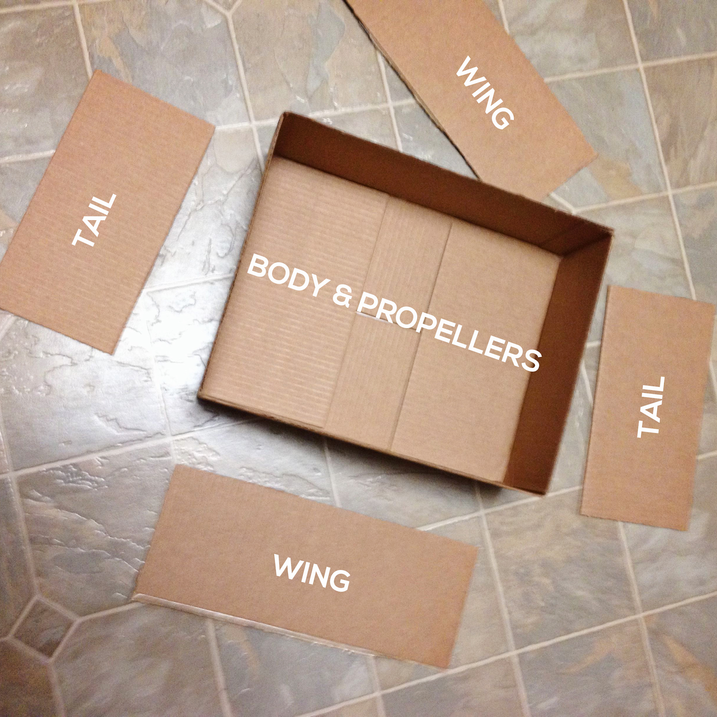LABELLED-PARTS Make a DIY Box Airplane Prop for Newborn Photography Guest Bloggers Photography Tips Uncategorized