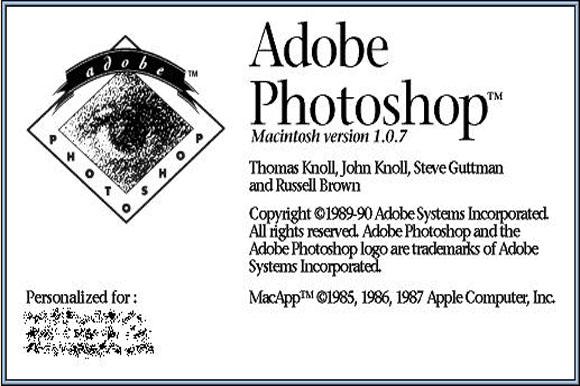 1990 version of Adobe Photoshop