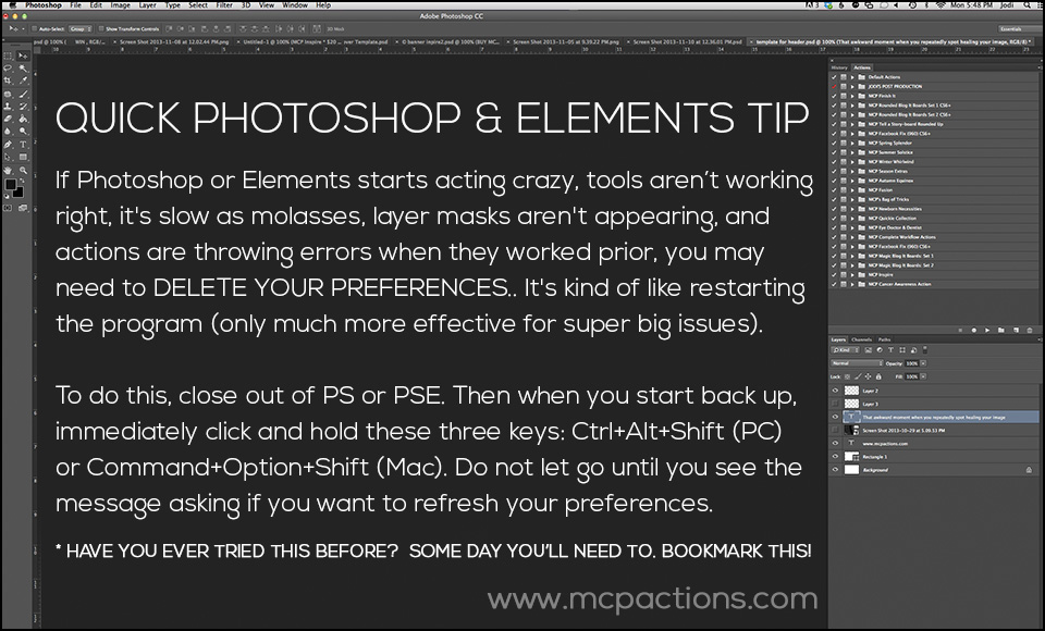 Quick-Tip-5 Deleting Preferences To Fix Issues in Photoshop and Elements FAQs Photoshop Tips & Tutorials