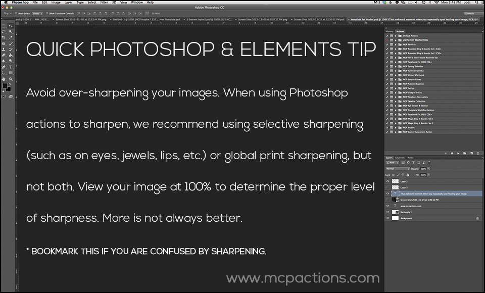 Quick-Tip-6 How to Avoid Sharpening Disasters When Editing Your Images FAQs Lightroom Tutorials Photoshop Tips & Tutorials