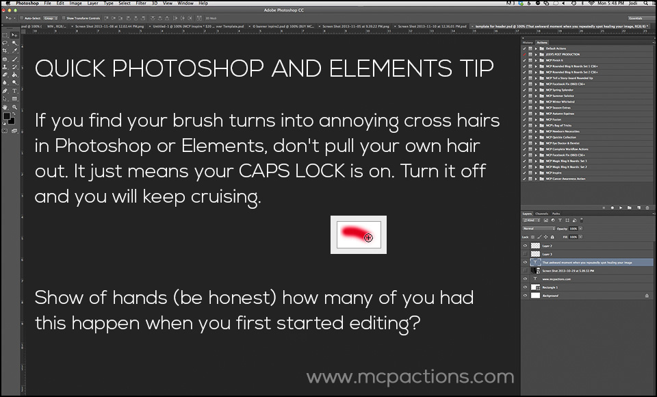 Quick-Tip-7 How to Fix Your Photoshop Brush When It Looks Like Cross-Hairs FAQs Photoshop Tips & Tutorials