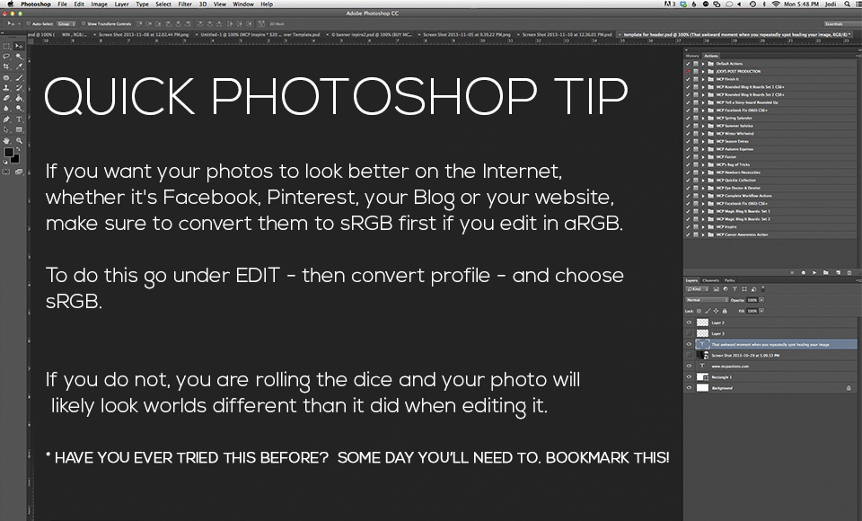 Quick-Tip-8 Instantly Make Your Photos Look Better on the Web Free Actions Photography Tips