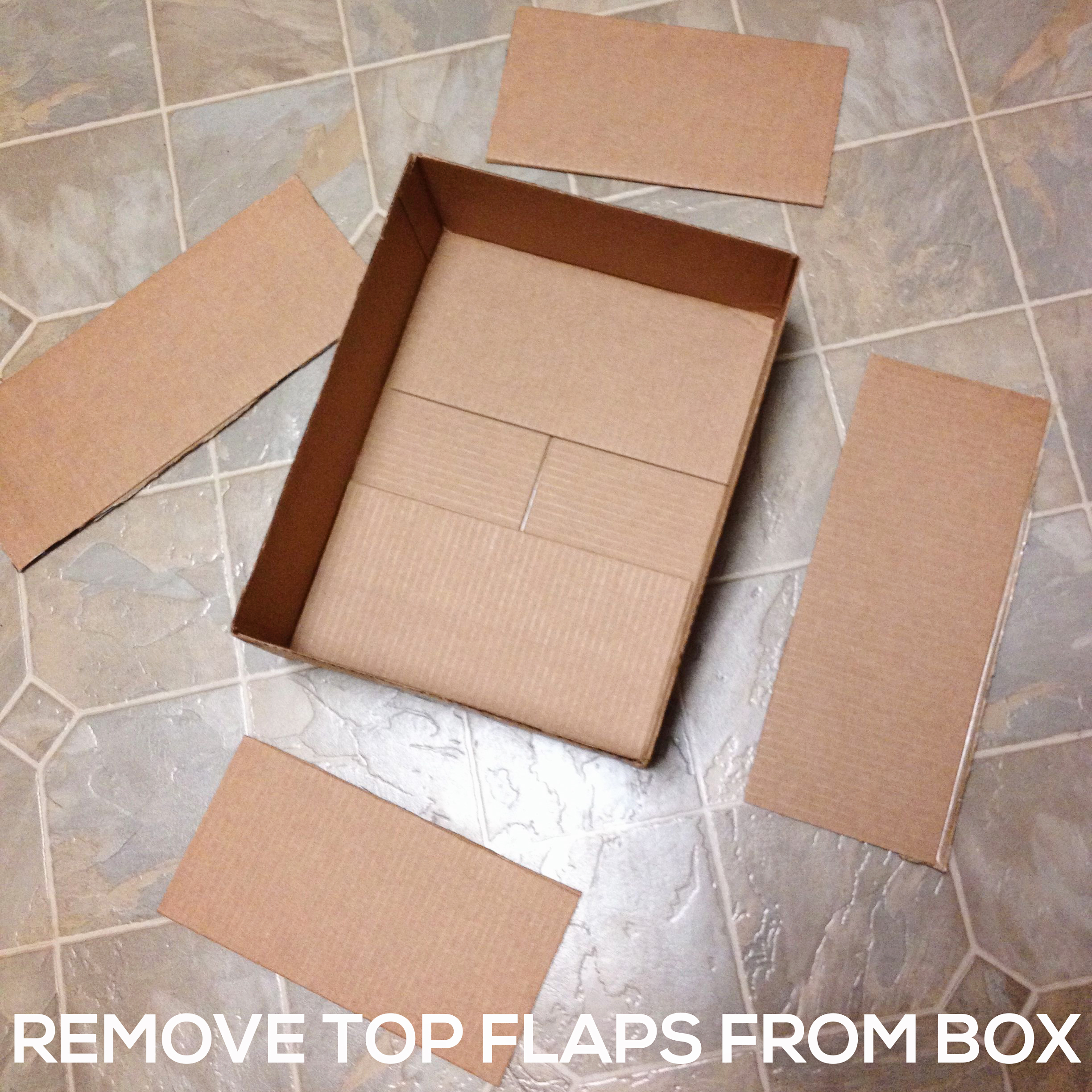 REMOVE-TOP-FLAPS Make a DIY Box Airplane Prop for Newborn Photography Guest Bloggers Photography Tips Uncategorized