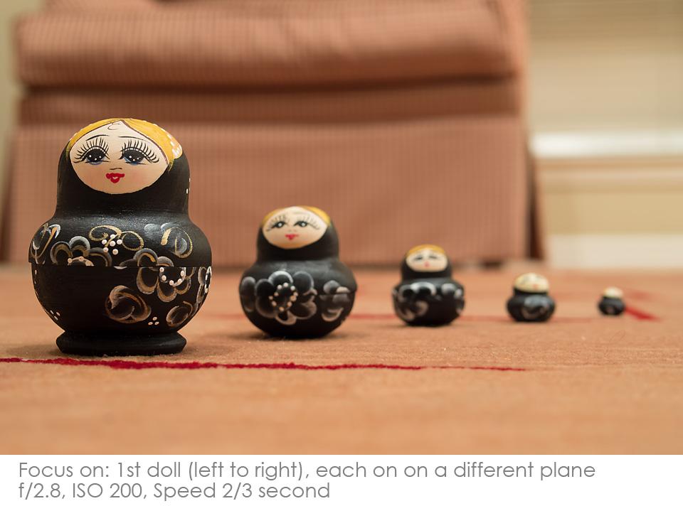 Russian-Matryoshka-Dolls-2.8 Depth of Field: A Visual Lesson Activities Photography Tips