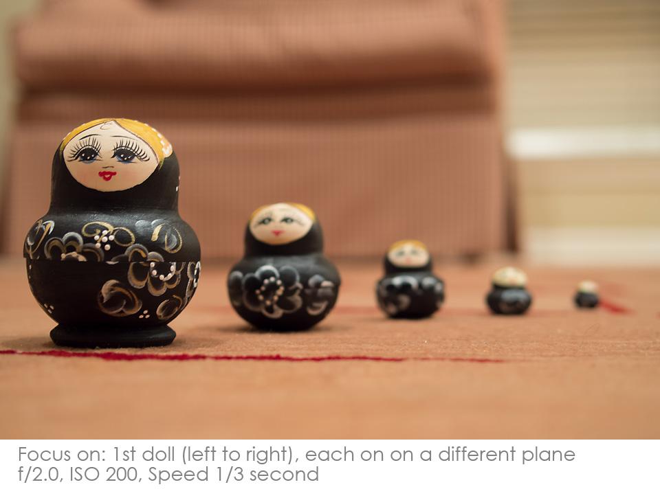 Russian-Matryoshka-Dolls-f2.8 Depth of Field: A Visual Lesson Activities Photography Tips