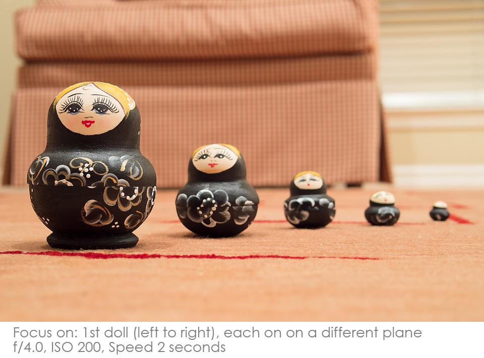 Russian-Matryoshka-Dolls-f4 Depth of Field: A Visual Lesson Activities Photography Tips