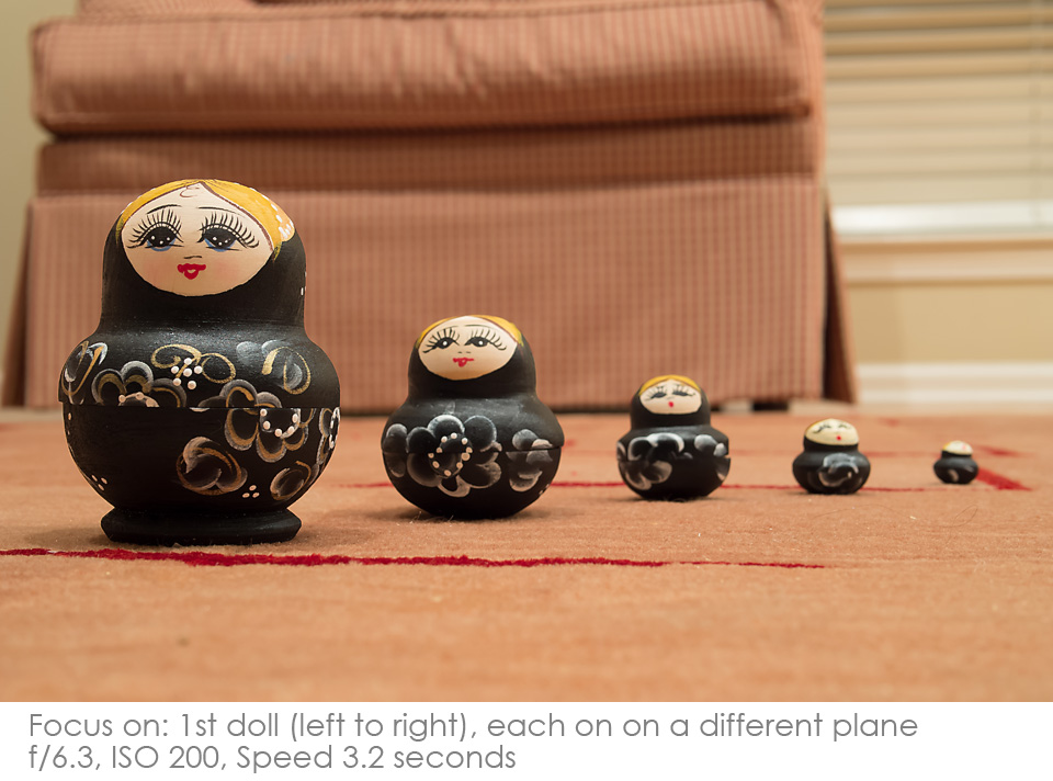 Russian-Matryoshka-Dolls-f6.3 Depth of Field: A Visual Lesson Activities Photography Tips