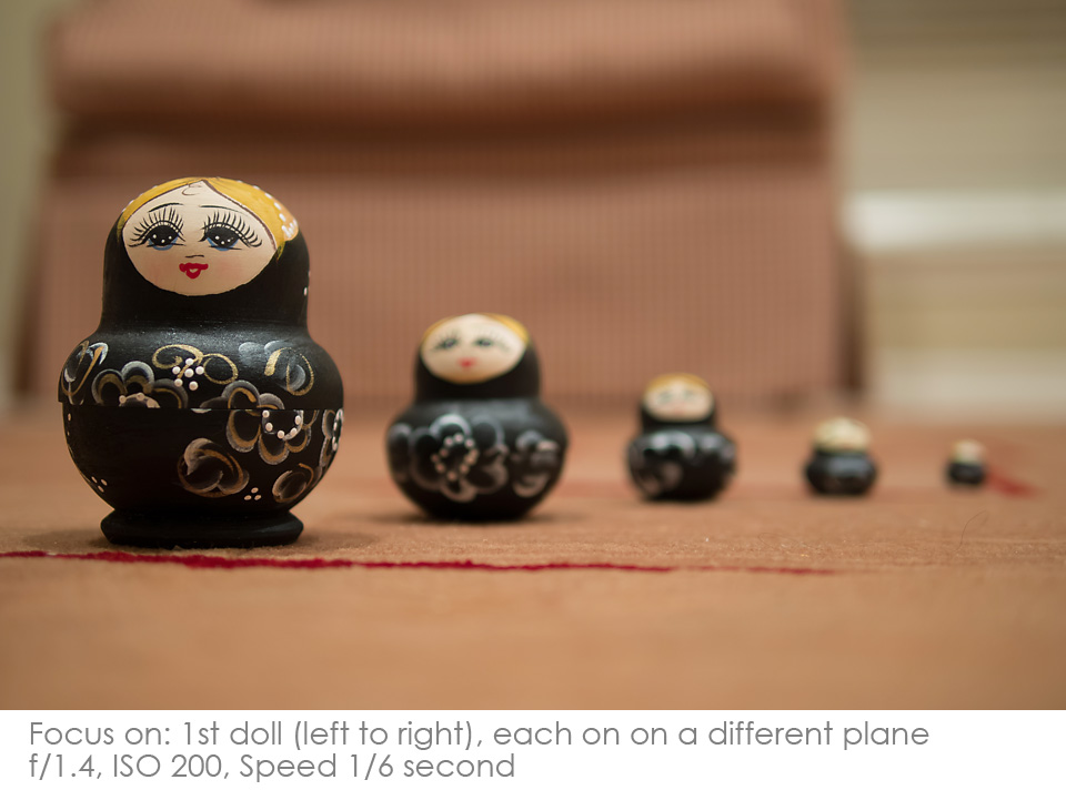 Russian-Matryoshka-Dolls-focus-1st Depth of Field: A Visual Lesson Activities Photography Tips