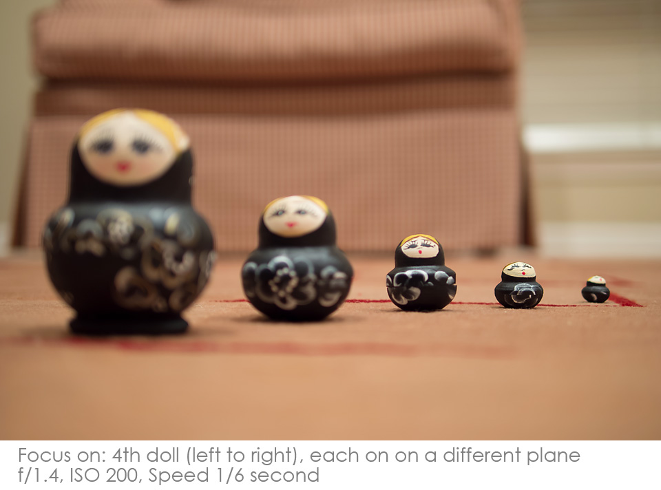 Russian-Matryoshka-Dolls-focus-4th Depth of Field: A Visual Lesson Activities Photography Tips